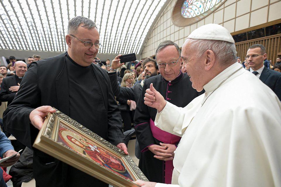 Biserica Greco-catolică din Peleș va avea o icoană binecuvântată de Papa Francisc