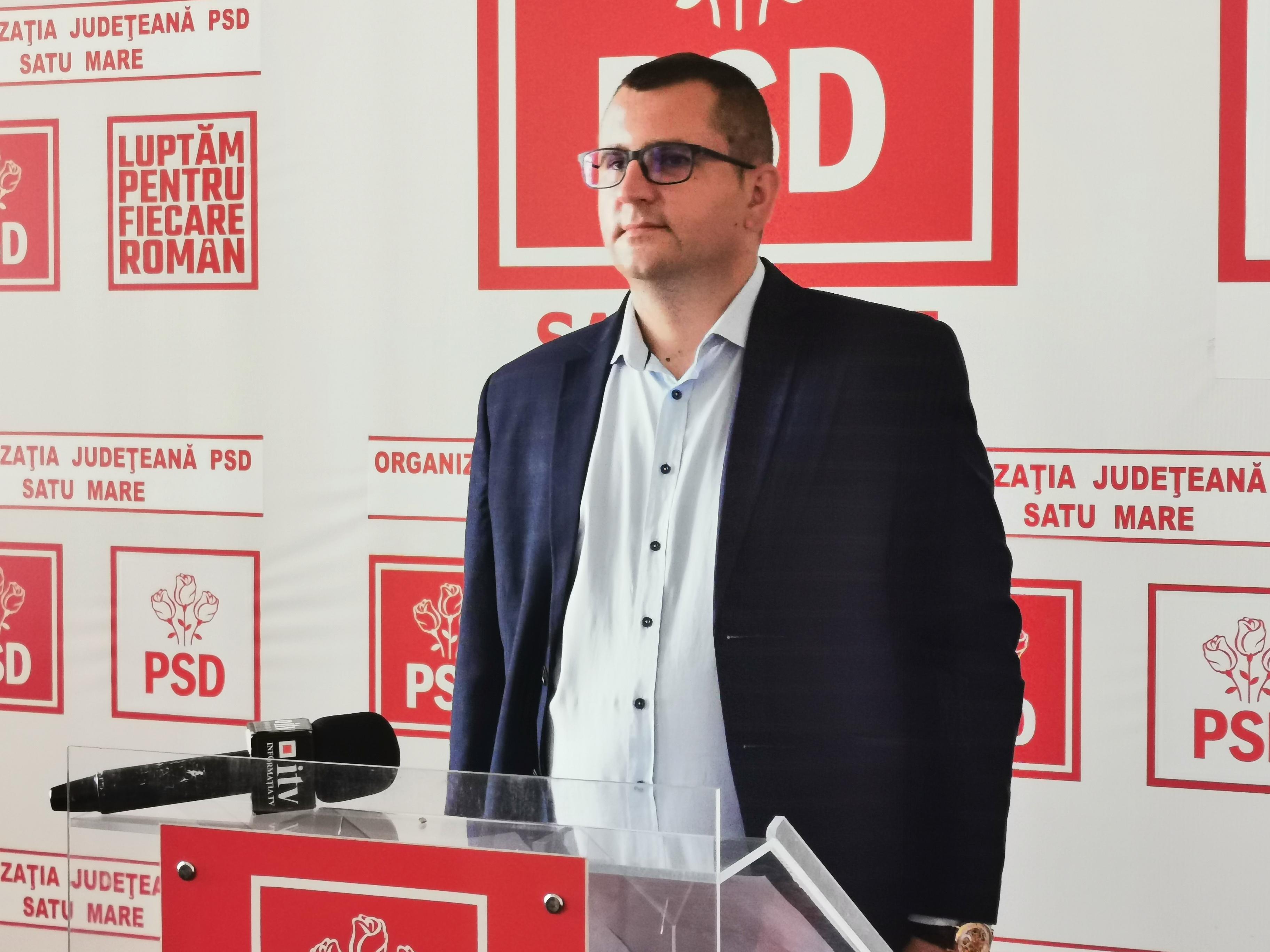Ionuț Oneț, președintele interimar PSD, acuza prefectul Radu Bud de favorizarea primarilor liberali la împărțirea banilor de la Guvern