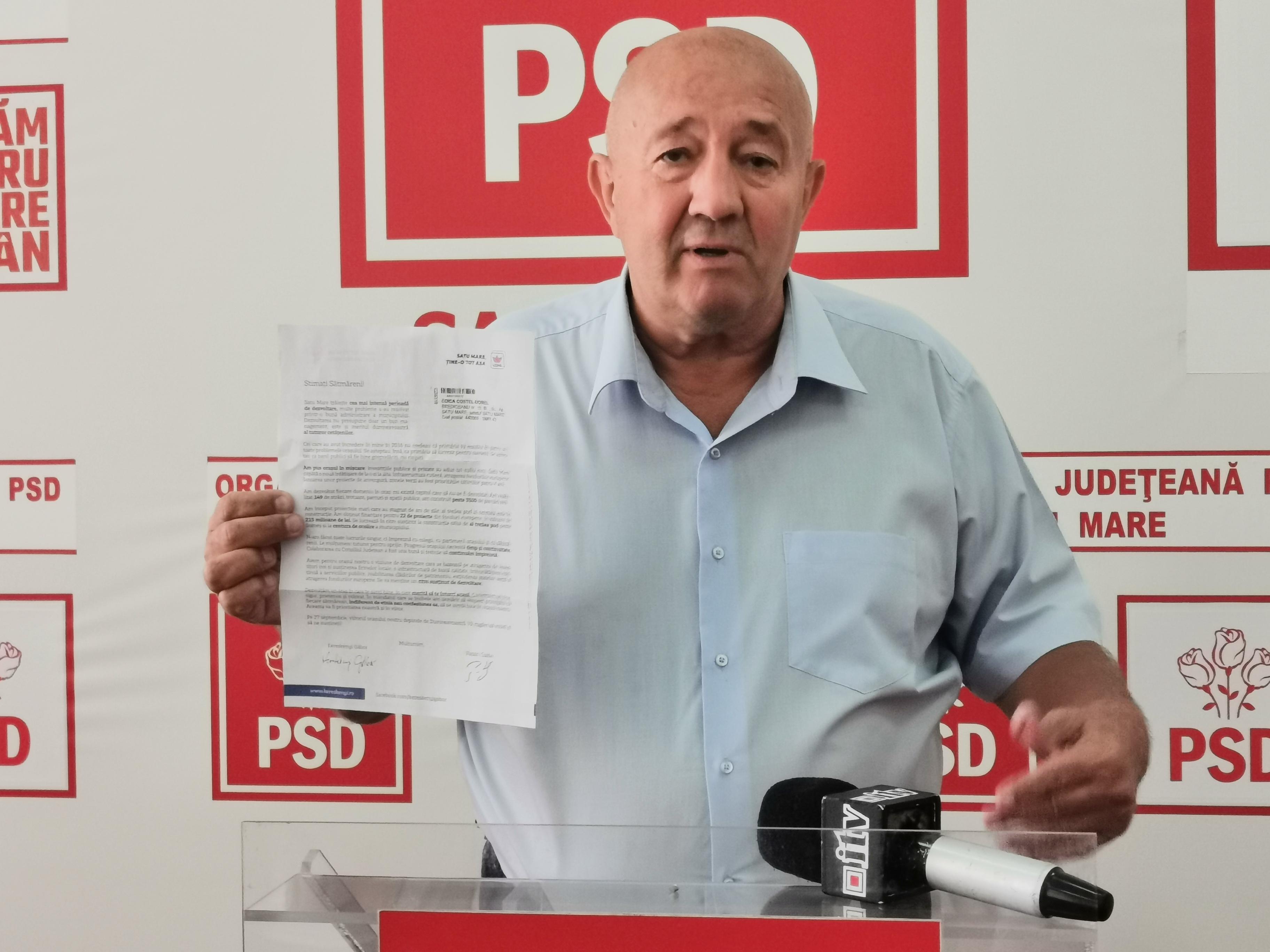 """Dorel Coica, la final de campanie electorală: """" Apaserv este compania de familie a lui Kereskenyi"""""""
