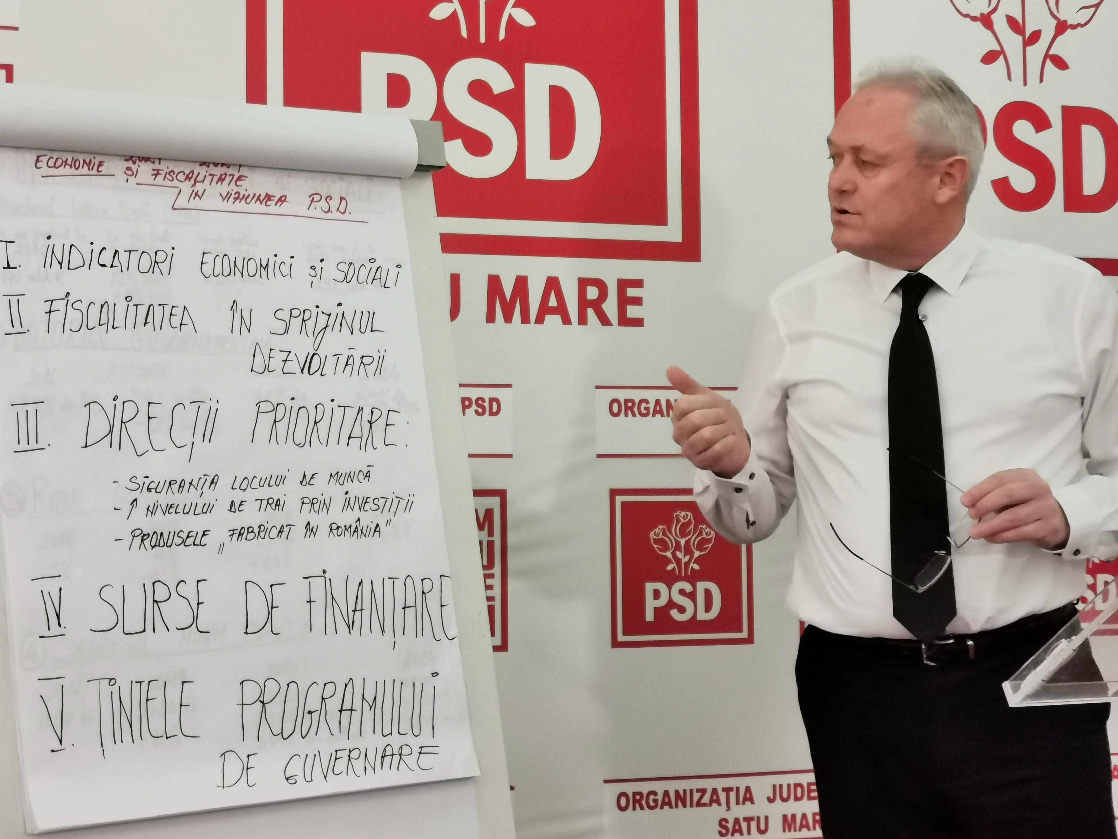 Ioan Tibil a prezentat sinteza programului de guvernare a PSD în domeniul fiscal și economic