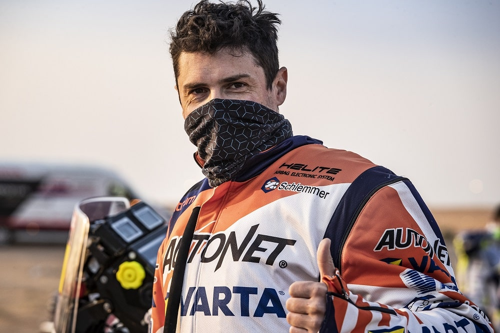 Many Gyenes, pe locul 3 la clasa sa la Dakar, la jumătatea cursei