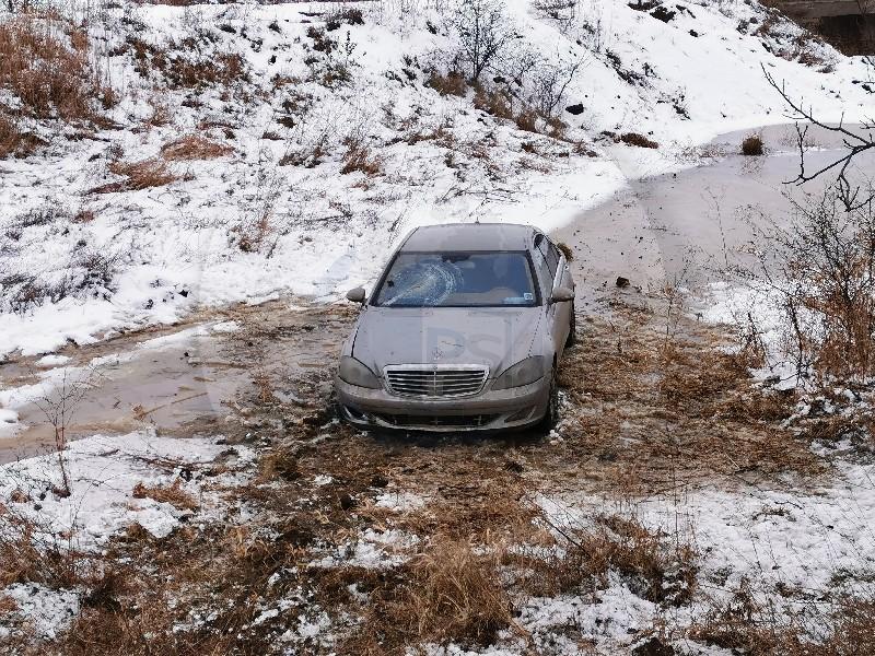 ACCIDENT PE DN19: O șoferiță a ajuns în șanț
